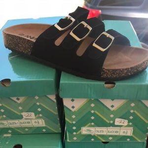 Three Strap Birk type Sandal